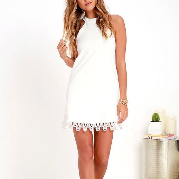 Lulu's Dresses & Skirts - Lulu's greatest gift ivory lace dress
